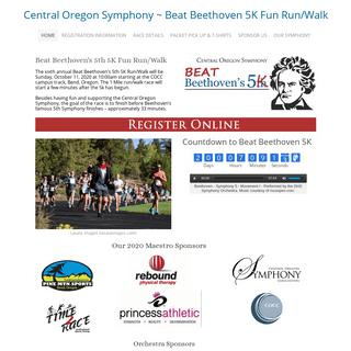 Central Oregon Symphony ~ Beat Beethoven 5K Fun Run-Walk - Home