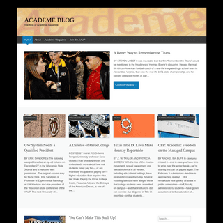 ACADEME BLOG - The blog of Academe magazine