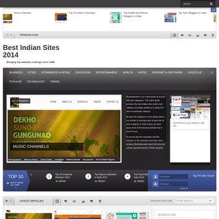 Best Indian Sites 2014 - Bringing top websites rankings since 1999