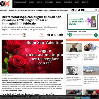 Spunti WhatSapp per auguri di buon San Valentino 2020- frasi ed immagini