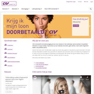 CNV Connectief - Jij bent er voor anderen. Wij zijn er voor jou!