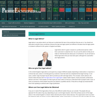 Legal Advice The Legal Encyclopaedia Find out the Law!