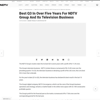 ArchiveBay.com - www.ndtv.com/communication/best-q3-in-over-five-years-for-ndtv-group-and-its-television-business-2178047 - Best Q3 In Over Five Years For NDTV Group And Its Television Business