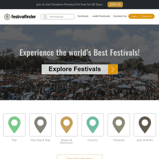 Festival Finder - Experience the world's Best Festivals!