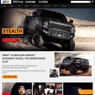 Diesel Power Gear - Diesel Clothing, Apparel, Giveaways & Diesel Parts