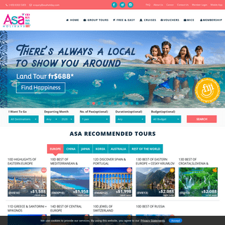 ASA Holidays - Best travel deals and affordable holiday packages