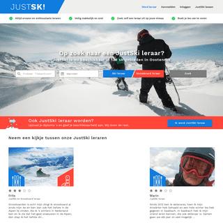 JustSki - JustSki ski en snowboard lessen