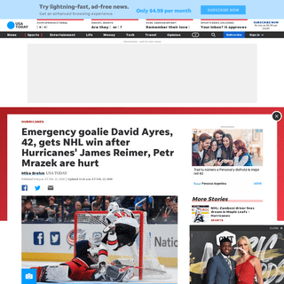 ArchiveBay.com - www.usatoday.com/story/sports/nhl/hurricanes/2020/02/22/david-ayres-emergency-goalie-enters-hurricanes-maple-leafs-game/4846751002/ - David Ayres, emergency goalie, enters Hurricanes-Maple Leafs game