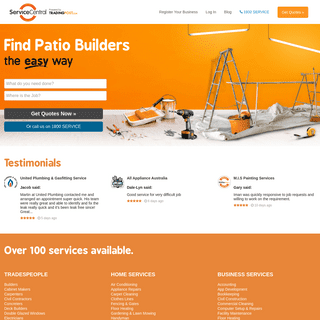 Service Central - Find a tradesman - Electricians, Plumbers, Painters and more