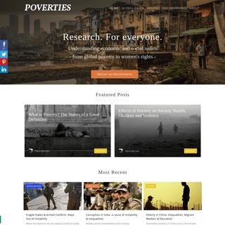 Global Poverty, Economic & Social Issues- POVERTIES Magazine
