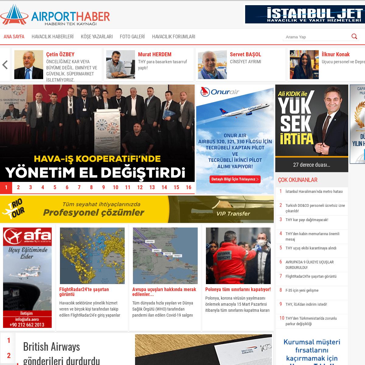 AirportHaber -Haberin Tek Kaynağı- Güncel Sivil Havacılık Haberleri