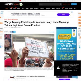 Warga Tanjung Priok kepada Yasonna Laoly- Kami Memang Tatoan, tapi Kami Bukan Kriminal