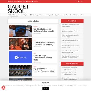 ArchiveBay.com - gadgetskool.com - GADGET SKOOL - Latest Technology News, Smartphones & Gadget Reviews