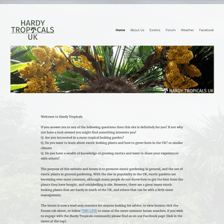 Home - Hardy Tropicals UK