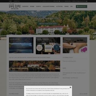 Hotel Wedding Venues - The 1927 Lake Lure Inn & Spa - Lake Lure, NC