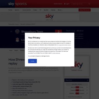 ArchiveBay.com - www.skysports.com/football/shrewsbury-vs-liverpool/live/422624 - Live Commentary - Shrewsbury vs Liverpool - 26 Jan 2020