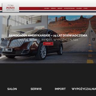 Ponti Auta z USA - Serwis - Salon - Import - Wypożyczalnia