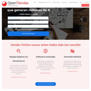 Plataforma de eCommerce para tiendas Online - OpenTiendas
