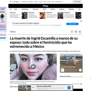 La muerte de Ingrid Escamilla a manos de su esposo- el relato del asesino Erick Francisco, fotos, videos y todo sobre el feminic