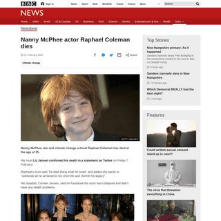Nanny McPhee actor Raphael Coleman dies - BBC News