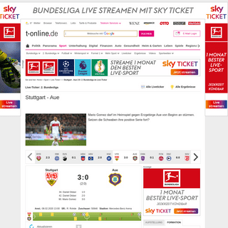 Stuttgart - Aue 2-0- 2. Bundesliga im Live-Ticker