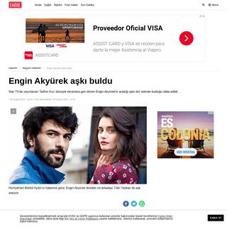 Engin Akyürek aşkı buldu - Magazin Haberleri - Cadde Haberler