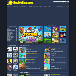 Bubblebox - prepare to play the best free online games ever!