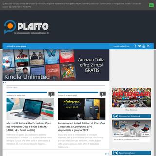 Plaffo - Il blog italiano dedicato al mondo Windows 10!