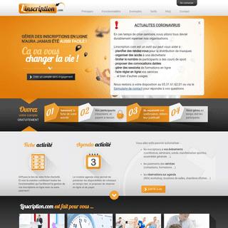 Plateforme de gestion d'inscriptions en ligne
