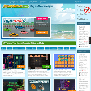 Typing Games Zone - 117 Fun Games to Learn Typing