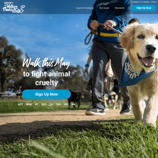 Walk to fight animal cruelty - RSPCA Million Paws Walk