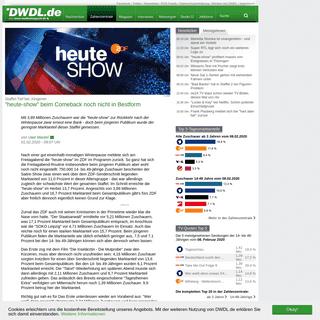 -heute-show- beim Comeback noch nicht in Bestform - DWDL.de