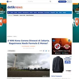 2 WNI Kena Corona Dirawat di Jakarta, Bagaimana Nasib Formula E Monas-