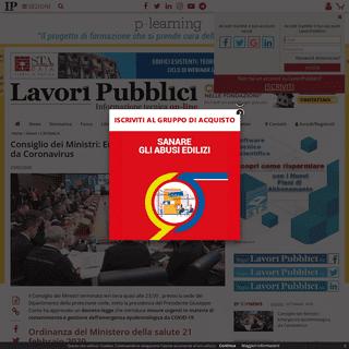 ArchiveBay.com - www.lavoripubblici.it/news/2020/02/CRONACA/23261/Consiglio-dei-Ministri-Emergenza-epidemiologica-da-Coronavirus - Consiglio dei Ministri- Emergenza epidemiologica da Coronavirus
