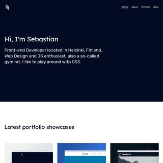 Front-end Developer, Web Design and JS enthusiast - Sebastian