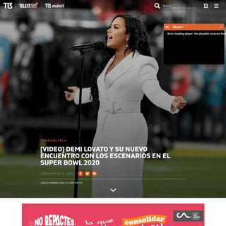 Demi Lovato impacta en el Super Bowl 2020 - Tele 13