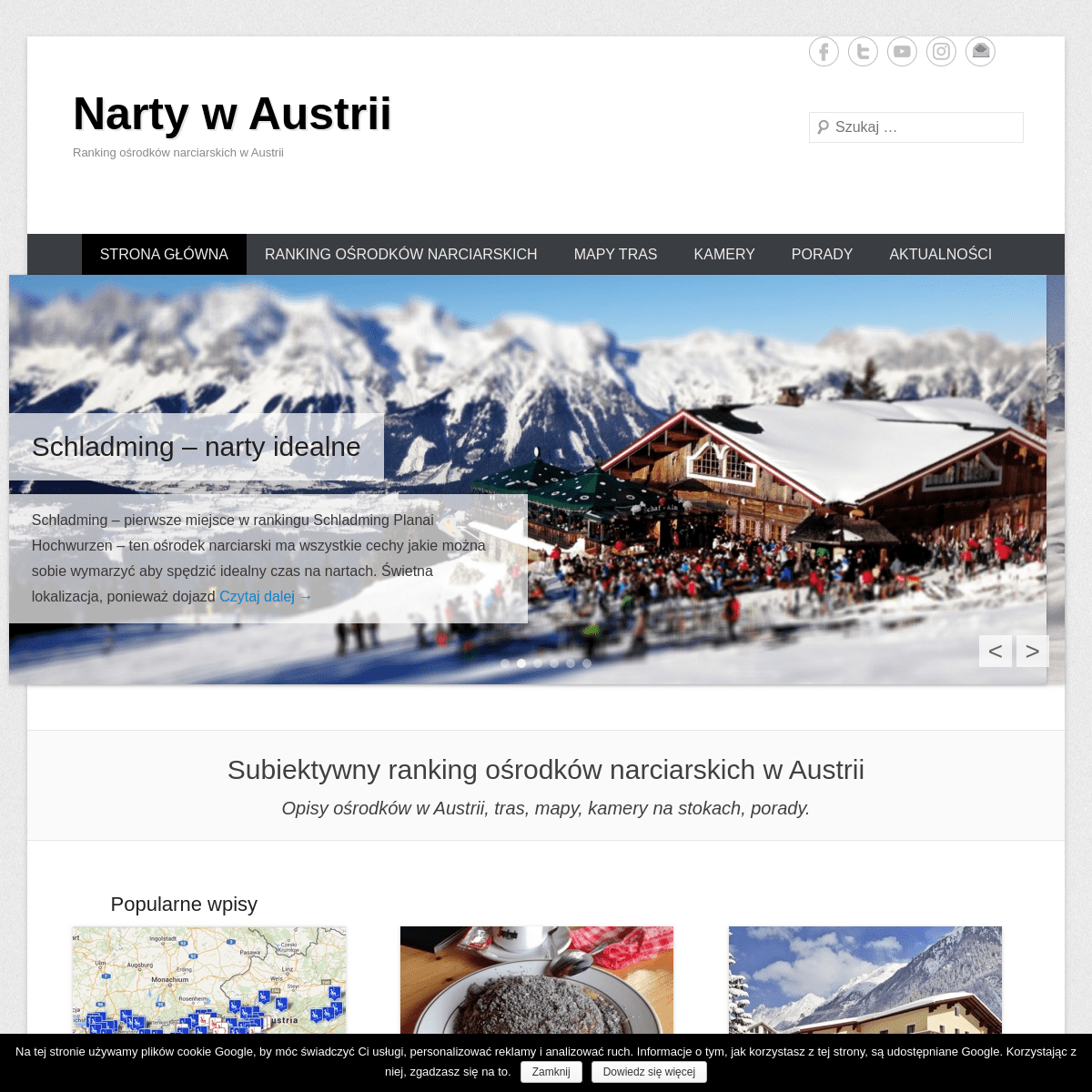 Narty w Austrii - Ranking ośrodków narciarskich w Austrii