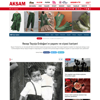 Recep Tayyip Erdoğan'ın yaşamı ve siyasi kariyeri - AKŞAM