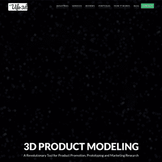 3D modeling services for an impactful marketing - UFO 3D