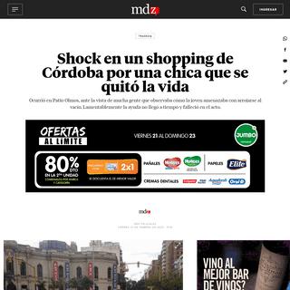 ArchiveBay.com - www.mdzol.com/sociedad/modus-operandi/2020/2/21/una-chica-se-suicido-en-el-shopping-de-cordoba-64446.html - Shock en un shopping de Córdoba por una chica que se quitó la vida - MDZ Online