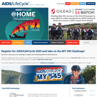 AIDS-LifeCycle – May 31 – June 6, 2020
