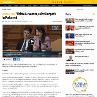ArchiveBay.com - www.euractiv.ro/politic-intern/violeta-alexandru-in-parlament-17507 - Violeta Alexandru, avizată negativ în Parlament - EurActiv