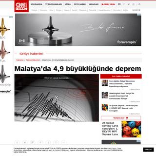 Son dakika! Deprem mi oldu- Malatya'da deprem - Günün Haberleri
