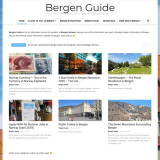 Bergen Guide Homepage - The #1 Top Guide to Bergen Norway