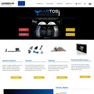 ArchiveBay.com - aaronia.com - Drone Detection, Spectrum Analyzers and Antennas — Aaronia