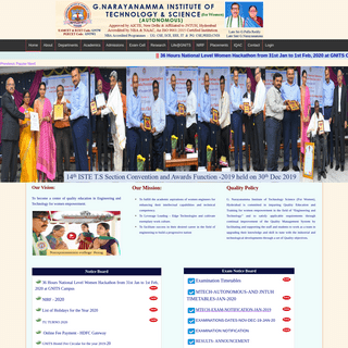 G.Narayanamma Institute of Technology and Science - The Best Women Engineering College, Hyderabad, Telangana, Smt.Srividya Reddy