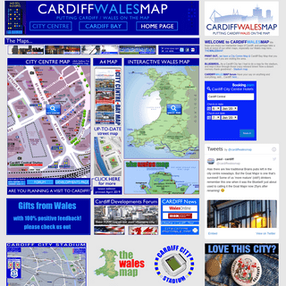 home page of Cardiff Wales Map