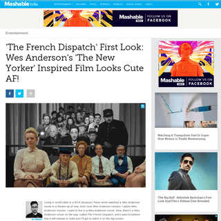'The French Dispatch' First Look- Wes Anderson's 'The New Yorker' Inspired Film Looks Cute AF! - Entertainment