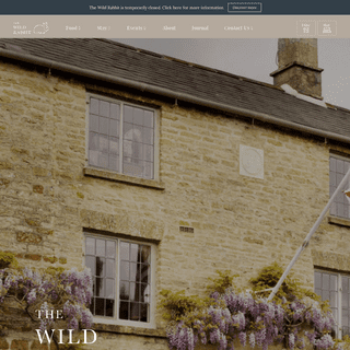 Home - The Wild Rabbit Inn - A Modern British Pub with Rooms
