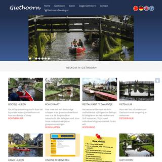 Giethoorn het Hollands Venetië in noordwest Overijssel- informatie rondvaart, bootje huren, kanoverhuur, zomerhuis, logies, res